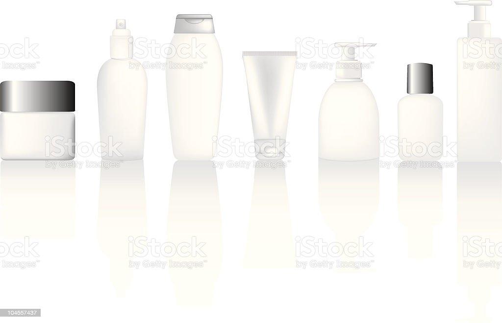 Satz von leeren Flaschen Lizenzfreies vektor illustration