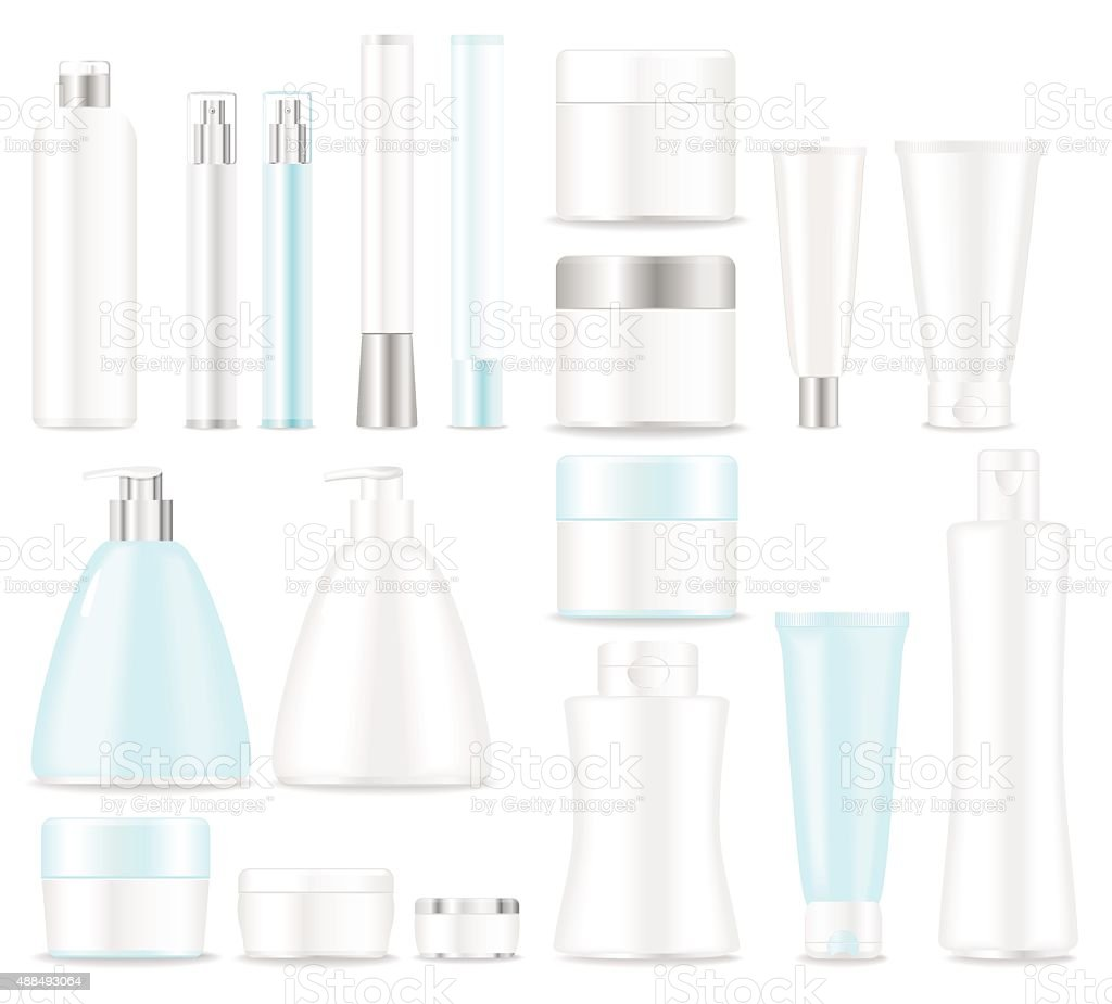 Set of blank cosmetic  tubes vector art illustration