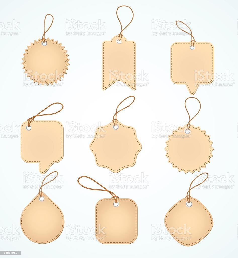 Set of Blank tags. Vector illustration. vector art illustration