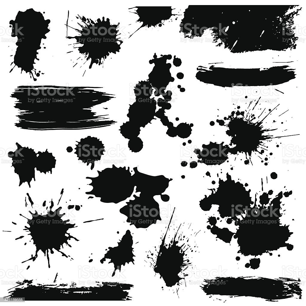 Set of blots vector art illustration