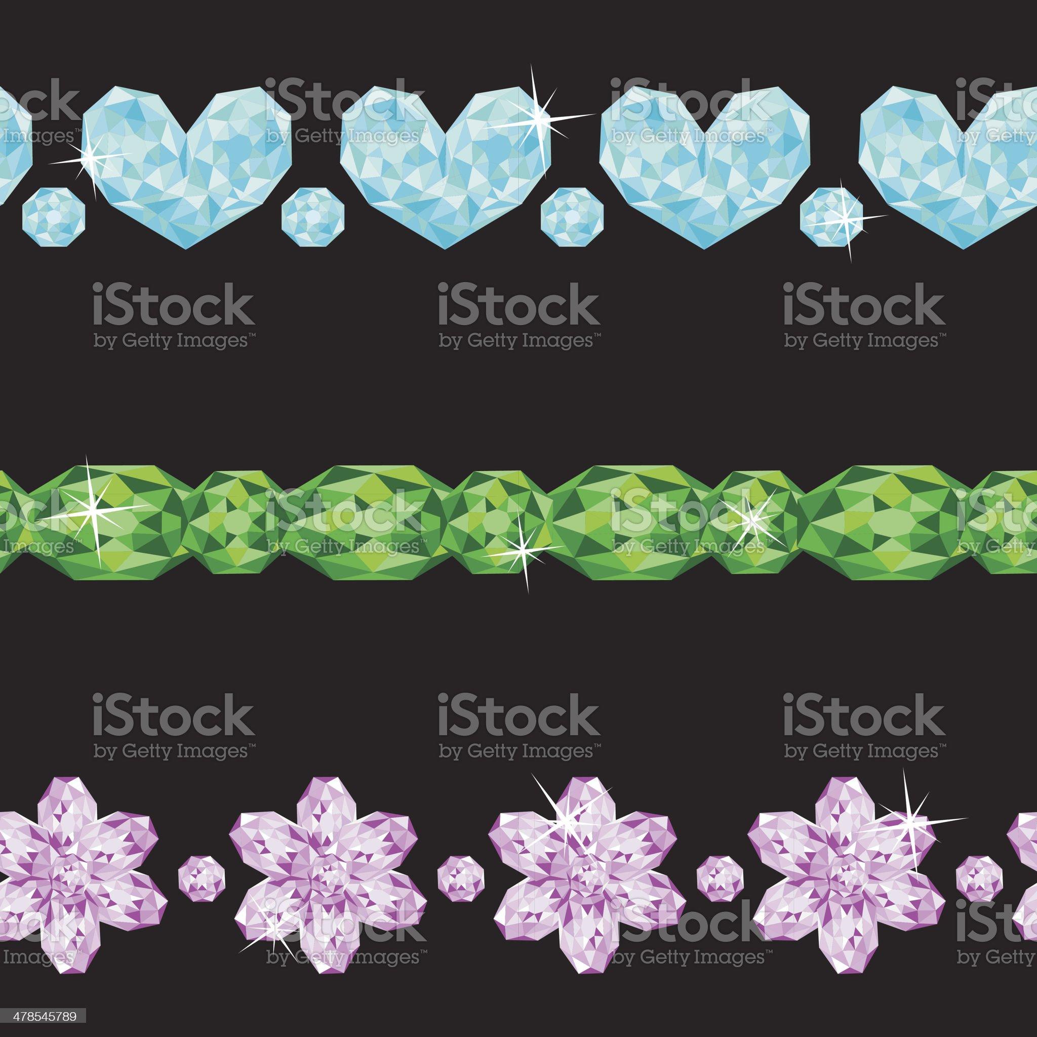 Set of  Borders royalty-free stock vector art