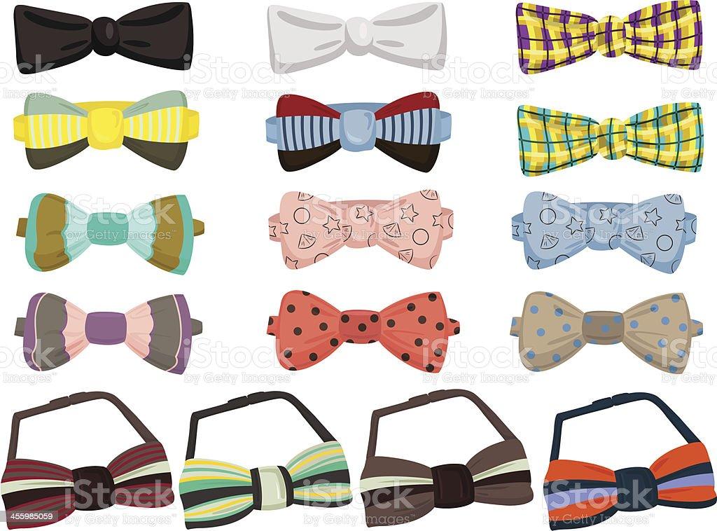 Set of bow ties royalty-free stock vector art