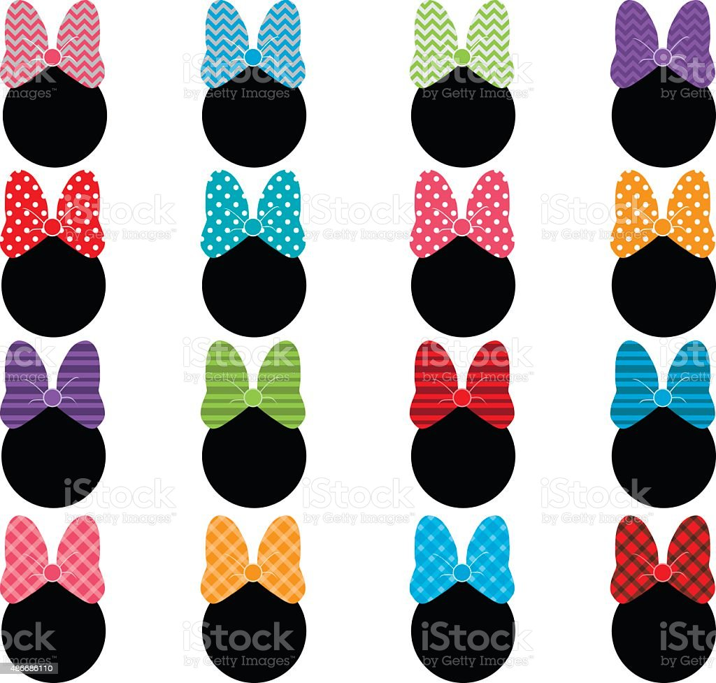 Set Of Bows vector art illustration