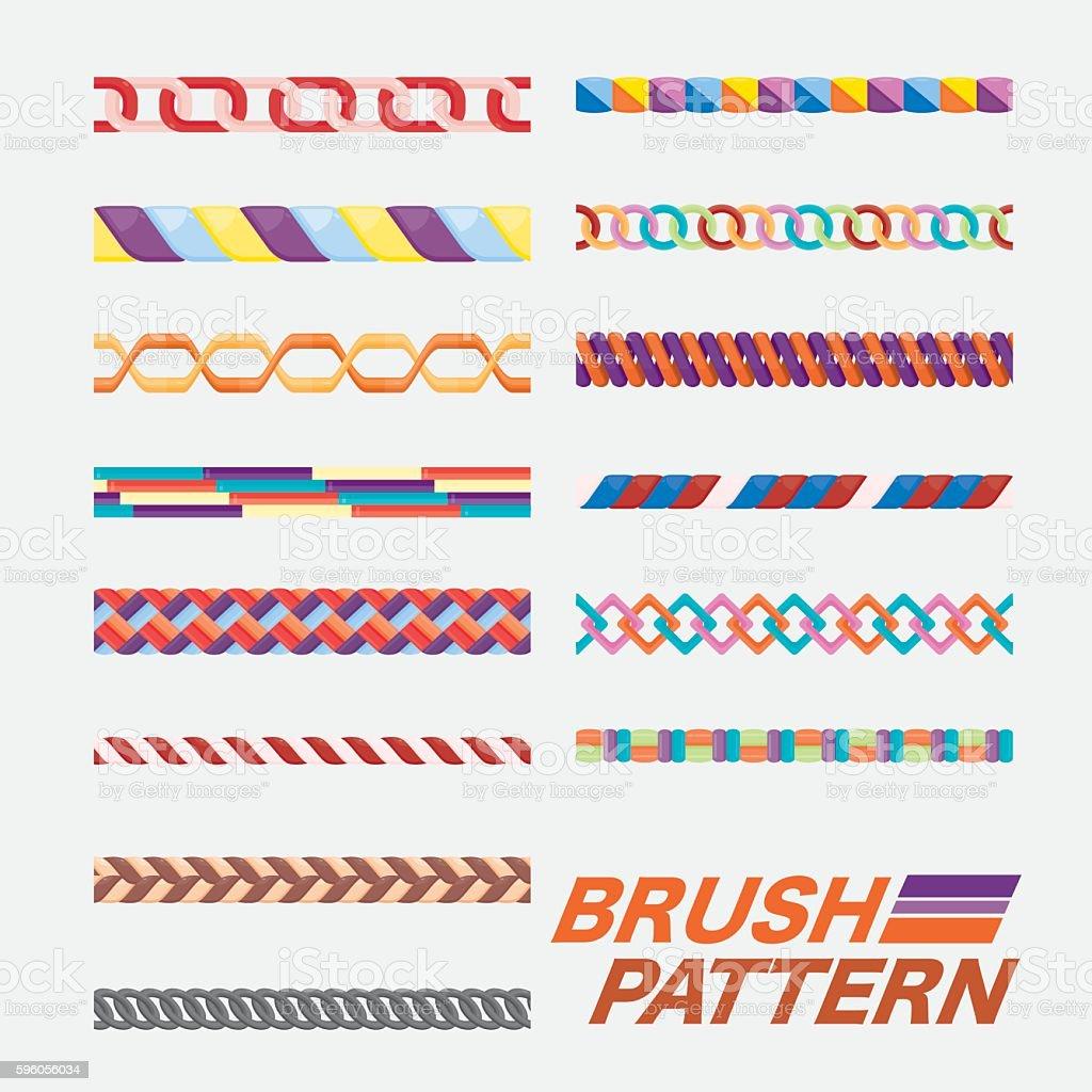 Set of brush pattern. vector art illustration