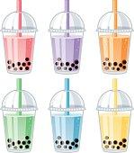 Set of Bubble Tea Flavors