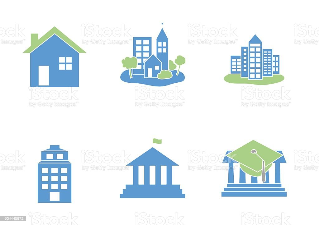 set of Buildings icons  - vector illustration vector art illustration