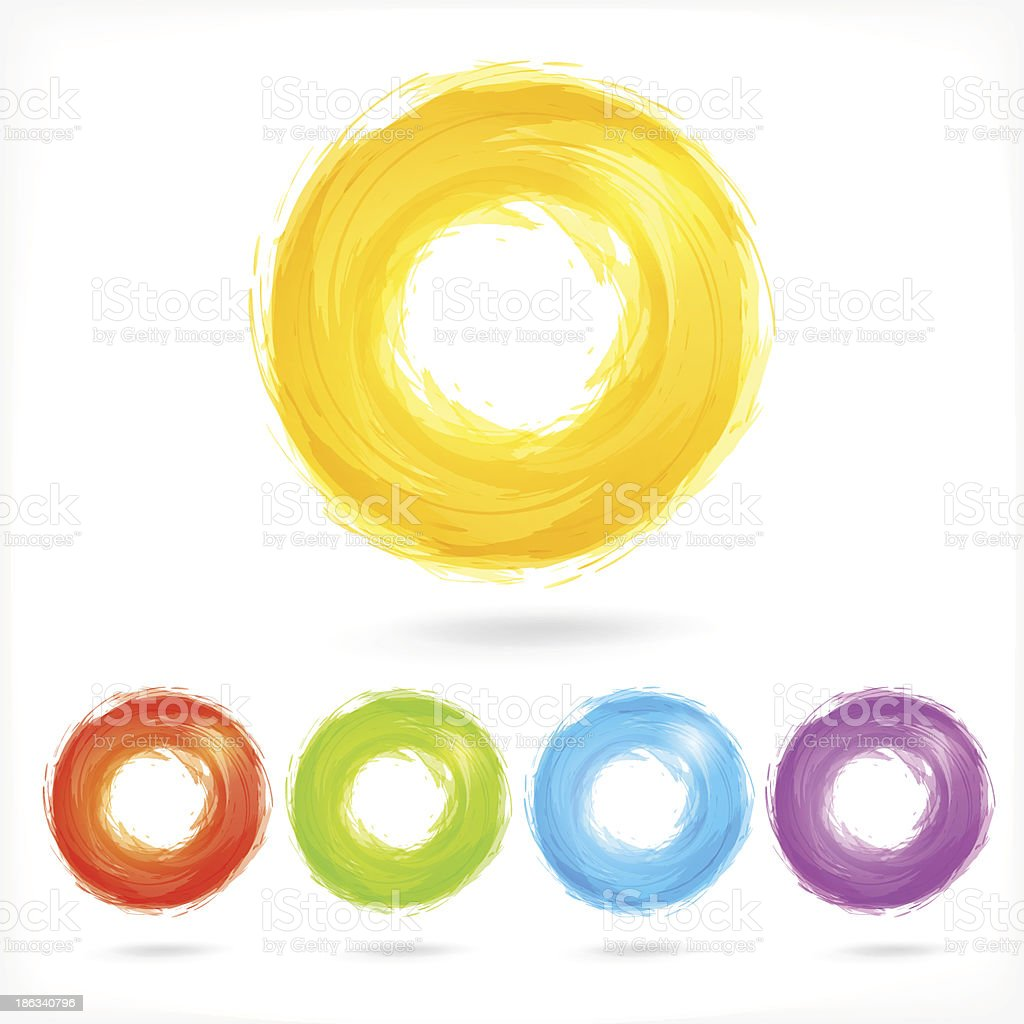 Set of Business Abstract Circle icons. royalty-free stock vector art