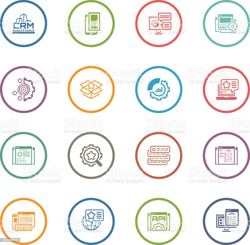 Set of Business and Marketing Flat icons vector art illustration