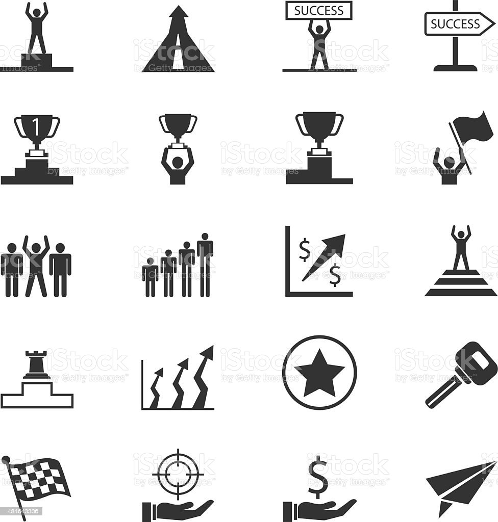 Set of business concept icons vector art illustration