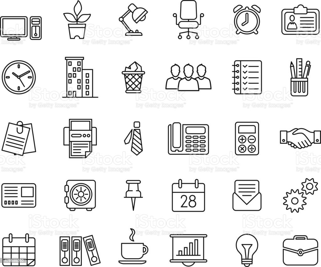 Set of business icons nternet marketing and services vector art illustration