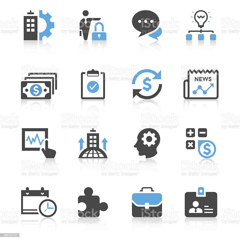 Set of business icons vector art illustration