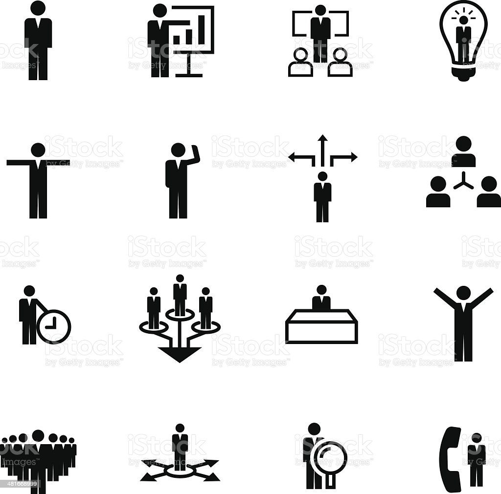 Set of Business Icons #5 vector art illustration