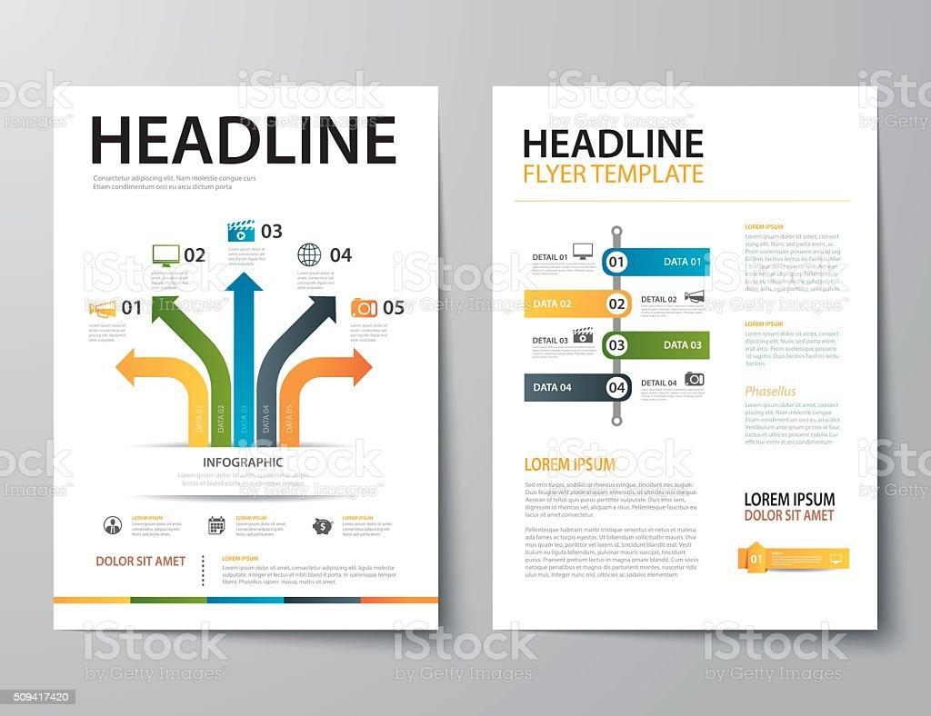 set of business magazine cover , flyer, brochure flat design tem vector art illustration