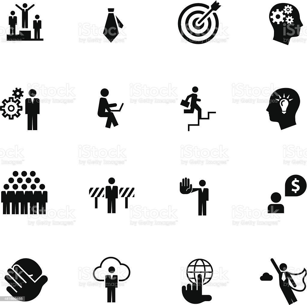 Set of Business Metaphore Icons #6 vector art illustration