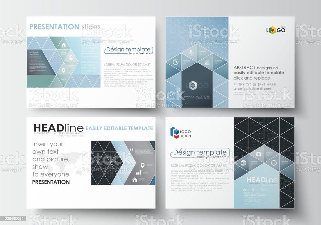Set of business templates for presentation slides. Easy editable vector vector art illustration