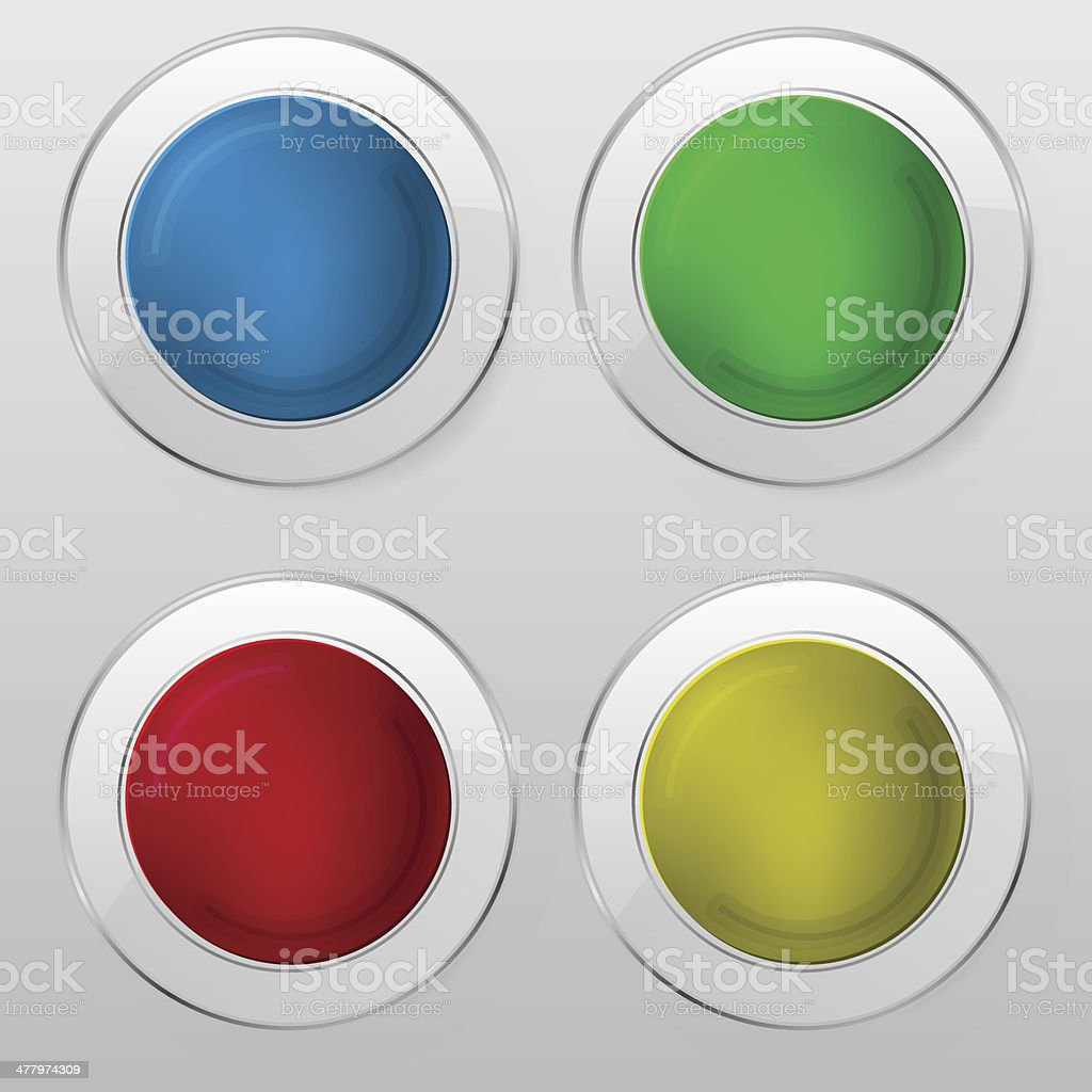 Set Of button royalty-free stock vector art