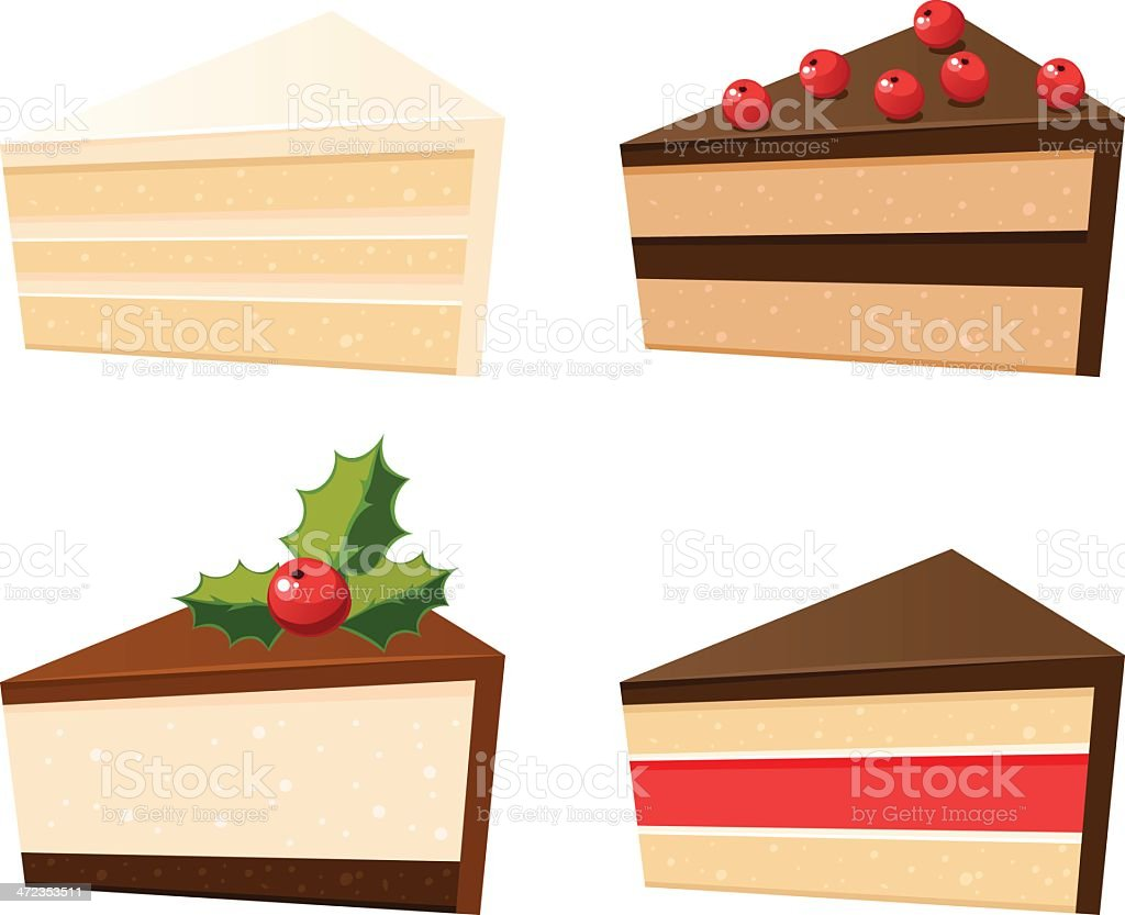 Set of cakes royalty-free stock vector art