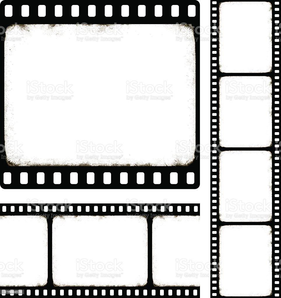 set of camera roll vector art illustration