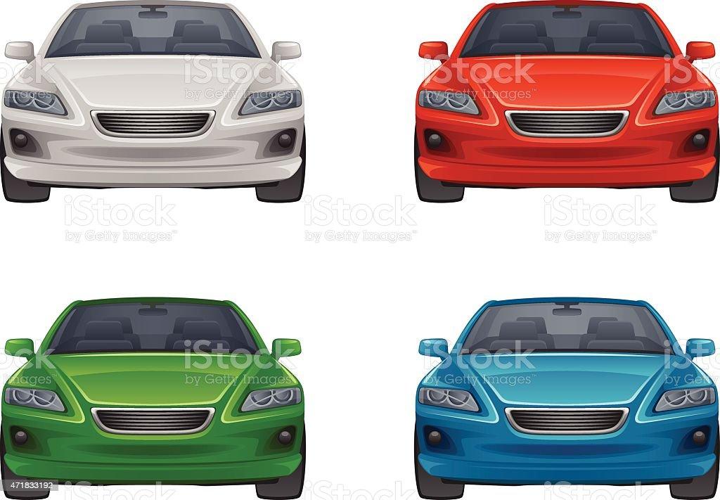 Set of car vector art illustration
