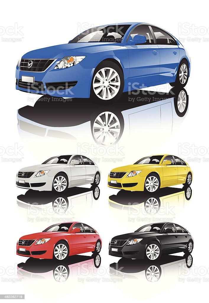 Set of Car royalty-free stock vector art