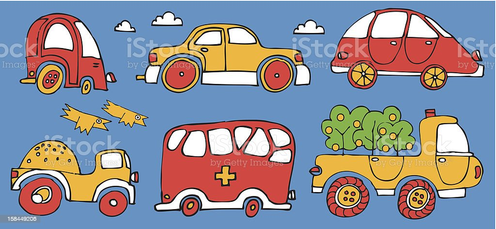 set of cars royalty-free stock vector art
