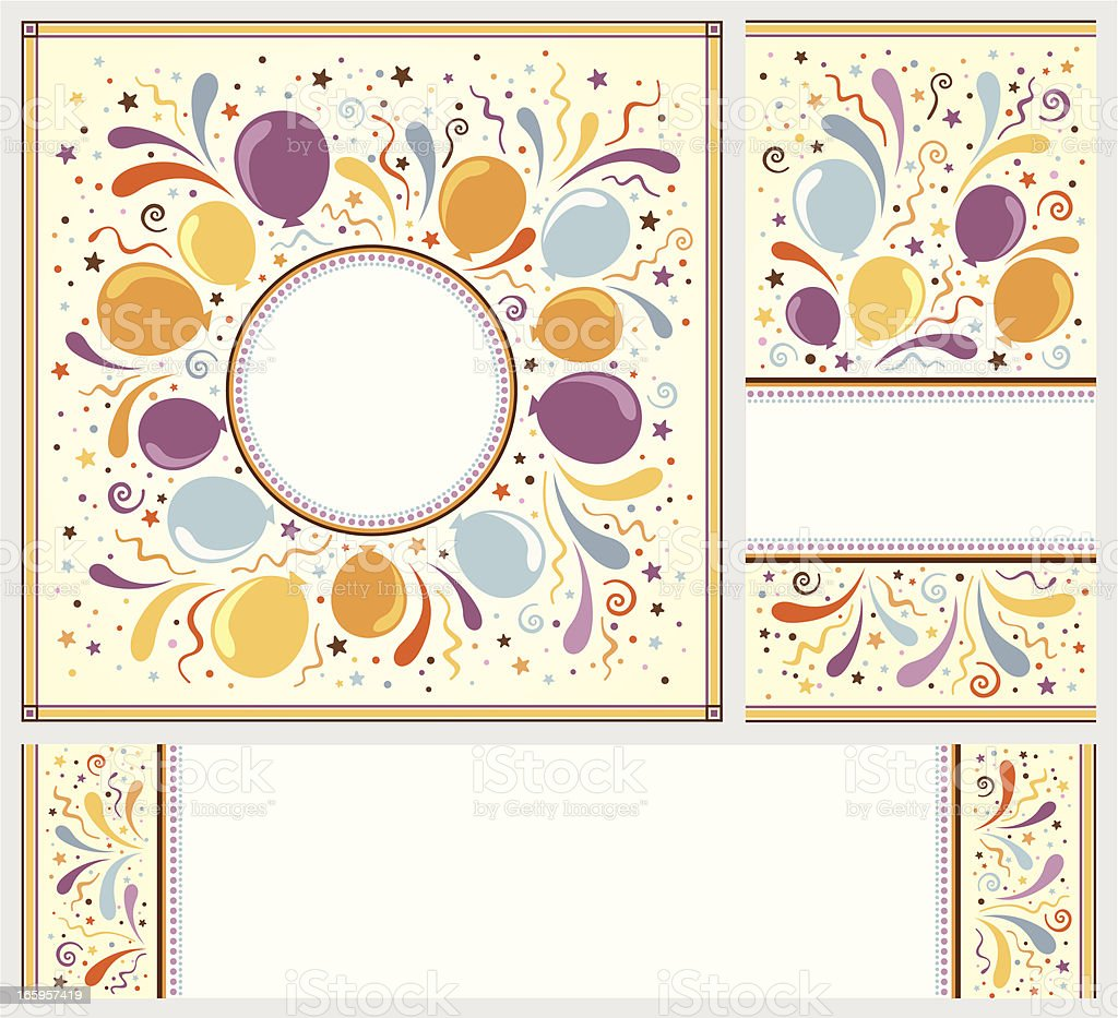 Set of celebration banners royalty-free stock vector art