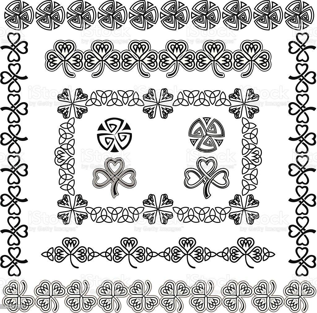 Set of Celtic Design Elements (Black&White) royalty-free stock vector art