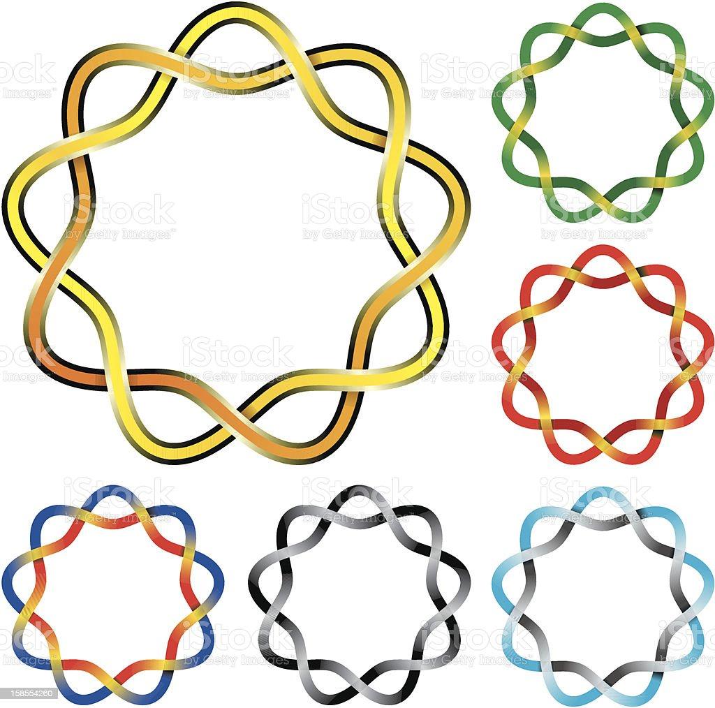 Set of Celtic knots royalty-free stock vector art