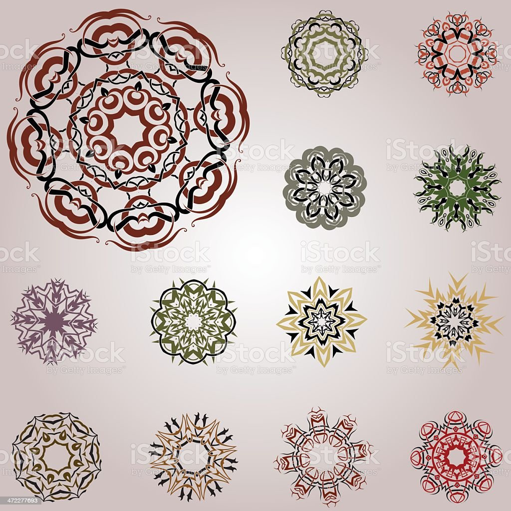 Set of celtic knotworks royalty-free stock vector art