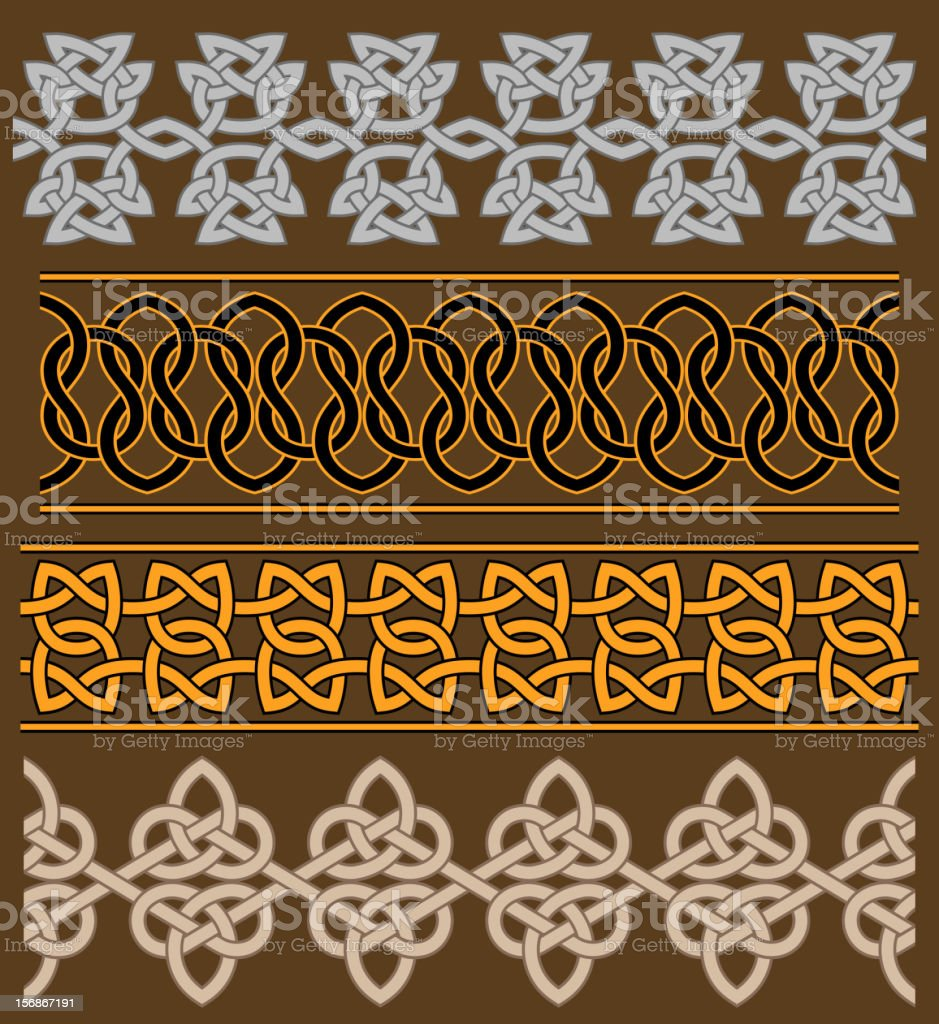 Set of celtic ornaments and patterns royalty-free stock vector art