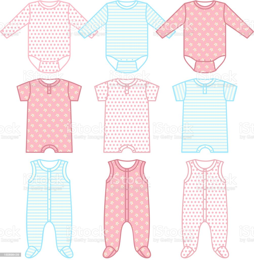 Set of child wear royalty-free stock vector art