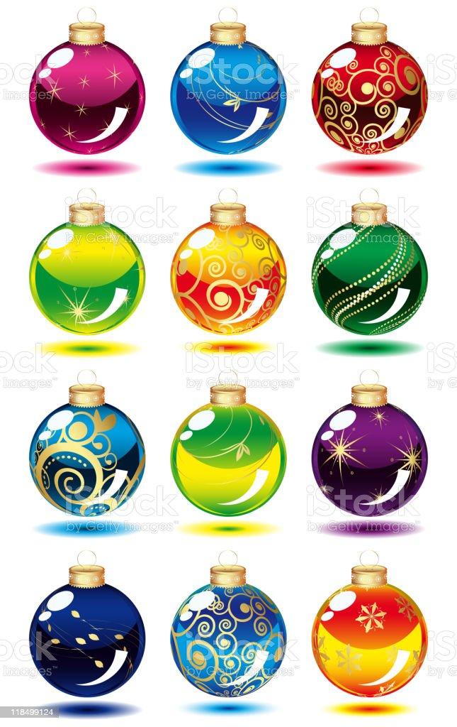 Set of Christmas balls. royalty-free stock vector art