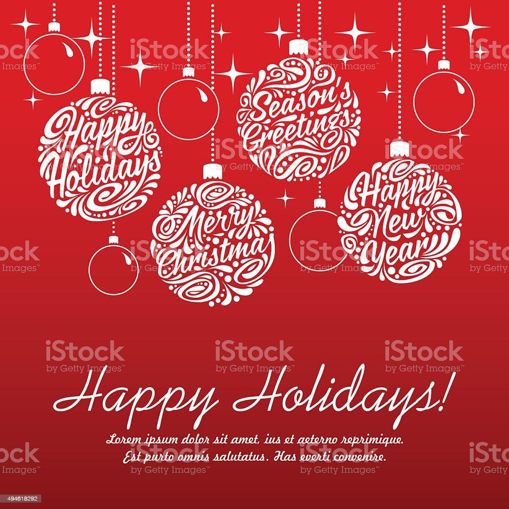 Set of Christmas balls vector art illustration