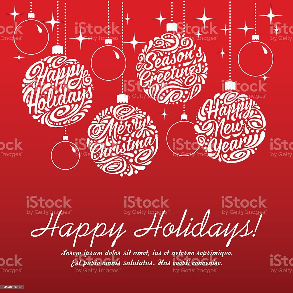 Set of Christmas balls vector art illustration