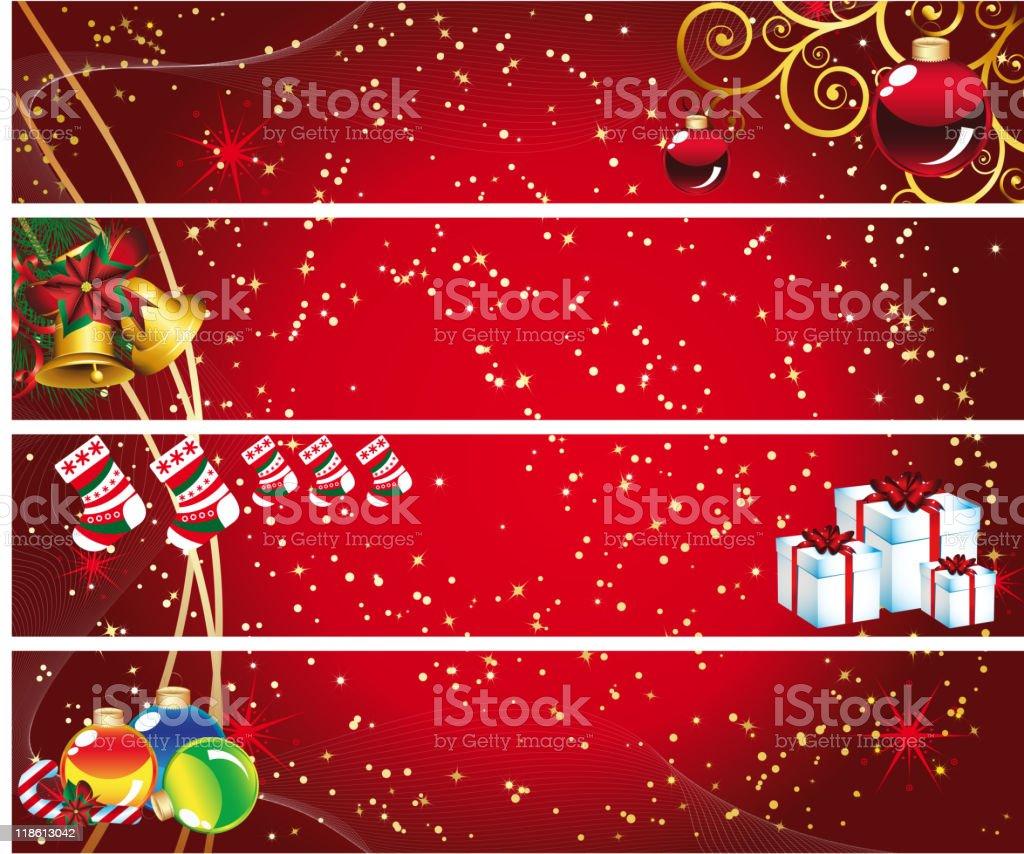 Set of Christmas banners. 10 Credits. royalty-free stock vector art