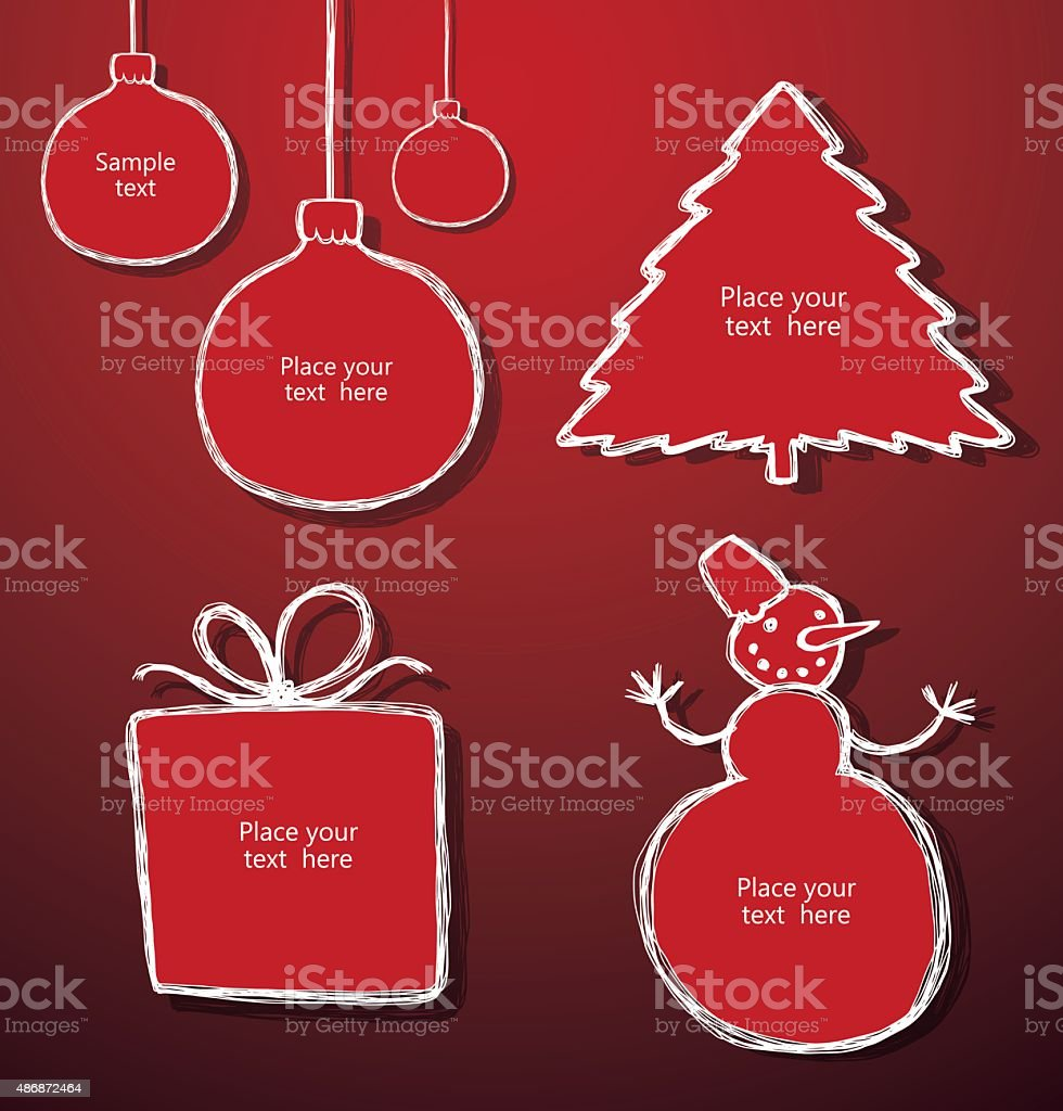 Set of Christmas banners vector art illustration