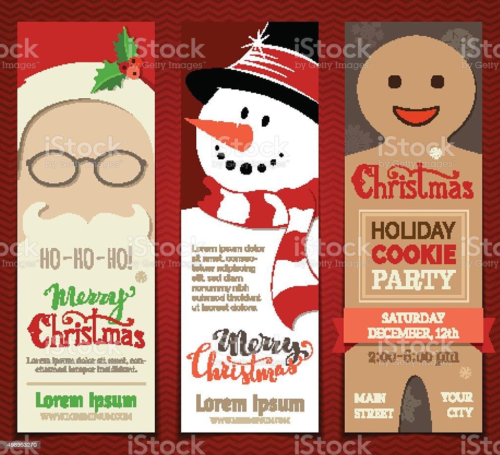 Set of Christmas banners. vector art illustration