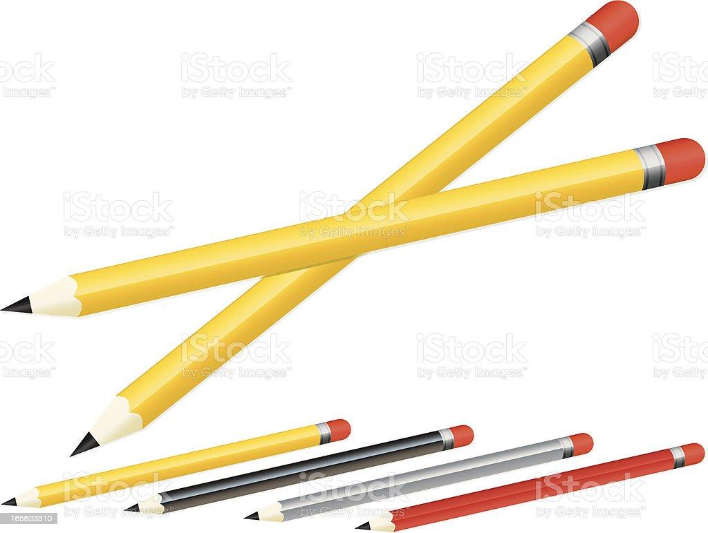 Klassisches Stifte in verschiedenen Farben Lizenzfreies vektor illustration