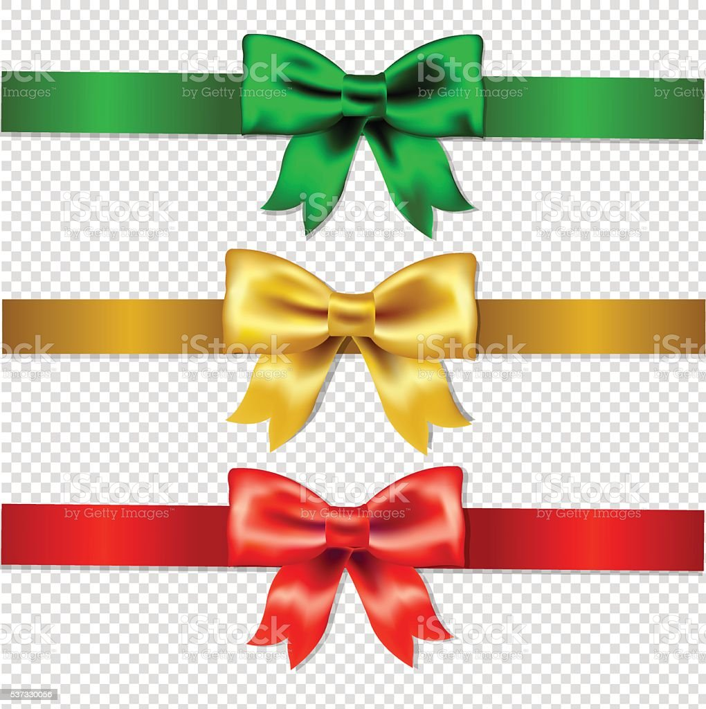 Set Of Color Bows Isolated vector art illustration