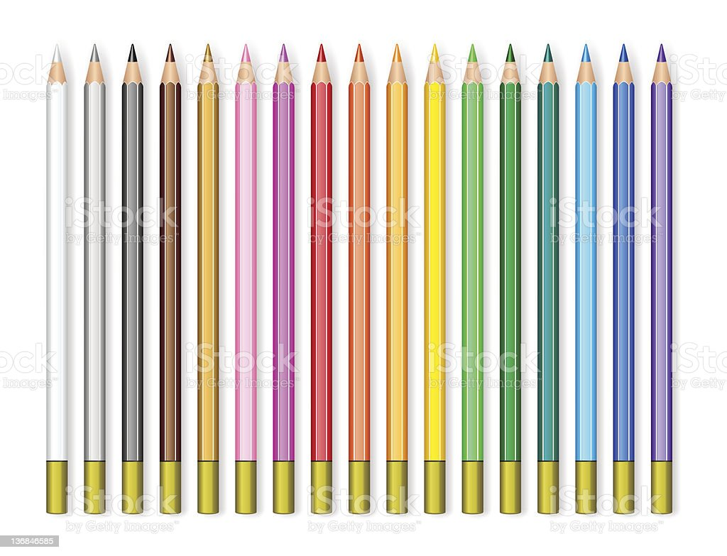 Set of color pencils royalty-free stock vector art