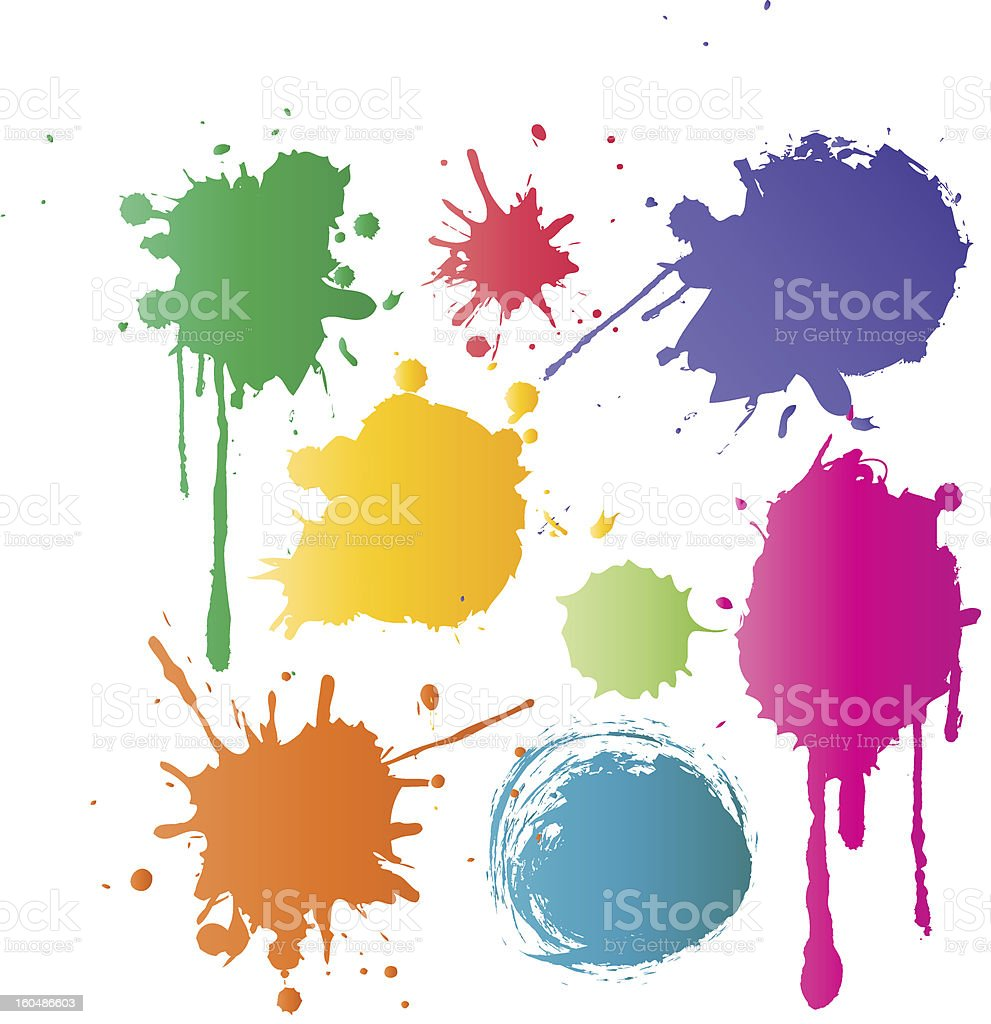 Set of color stains royalty-free stock photo