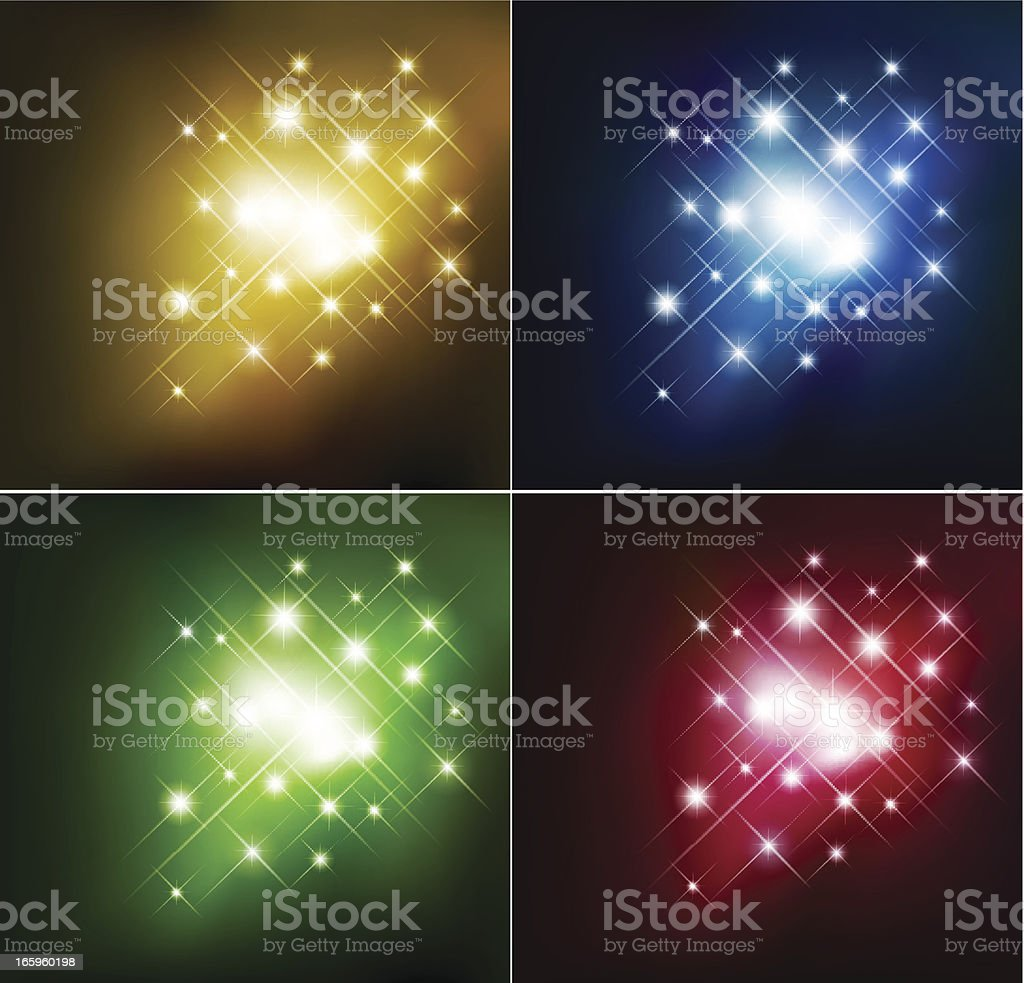 Set of color starring background royalty-free stock vector art
