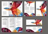 Set of colored abstract brochure