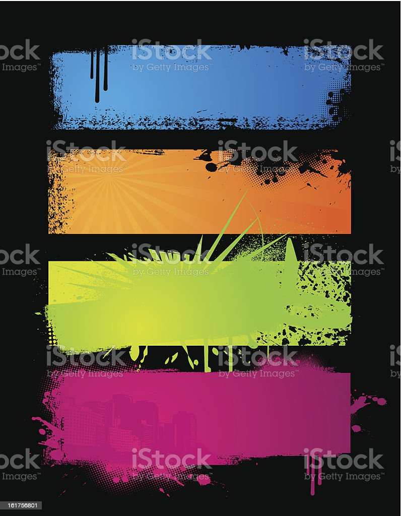 Set of colored banners. royalty-free stock vector art