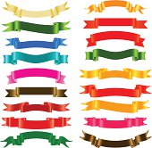 Set of colored ribbons.