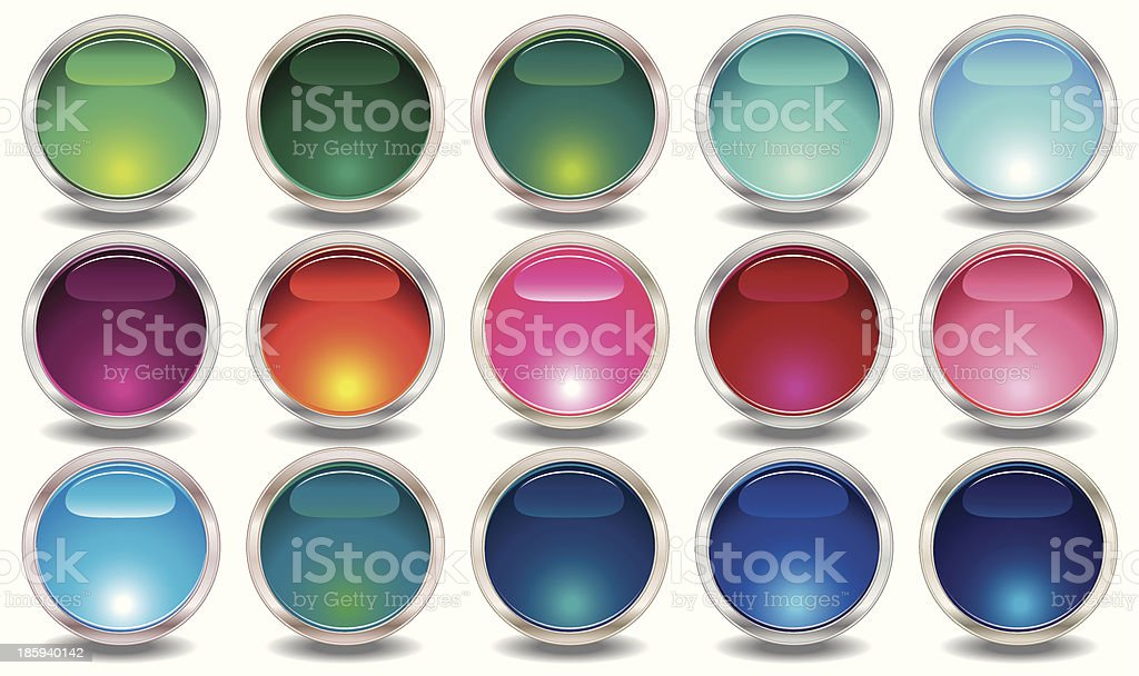 Set of colored web buttons royalty-free stock vector art