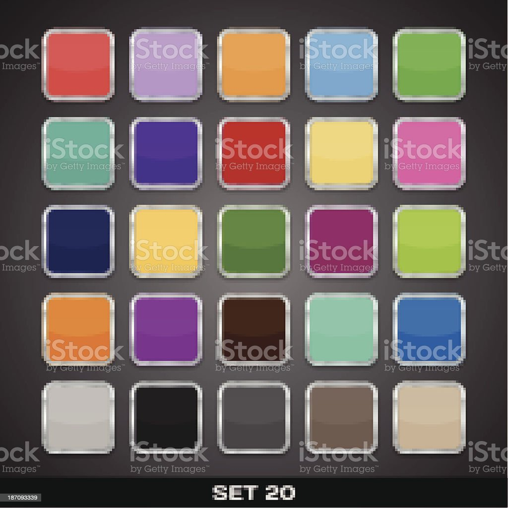 Set Of Colorful App Icon Templates, Frames, Backgrounds. royalty-free stock vector art