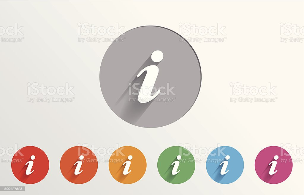 Set of colorful info icons vector art illustration