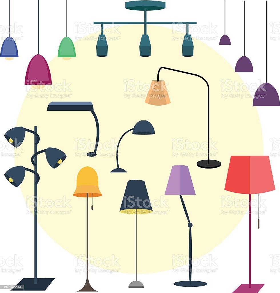Stehlampe clipart  Stehlampe Vektorgrafiken und Illustrationen - iStock