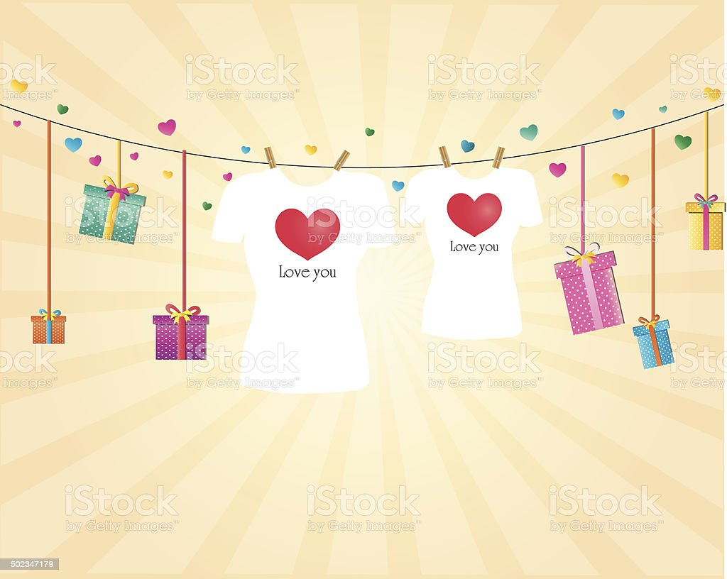 Set of colorful male t-shirts royalty-free stock vector art